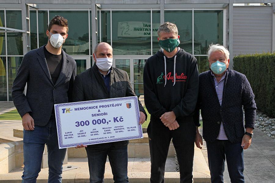 Sportovci mezi sebou vybrali peníze pro zdravotníky